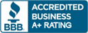 BBB Accredited Business A+ Rating Logo